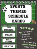 Sports-Themed Daily Schedule Cards *EDITABLE*