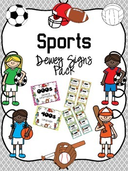 Sports Themed Dewey Signs Pack