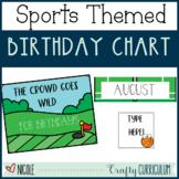 Sports Themed Editable Birthday Chart Decor