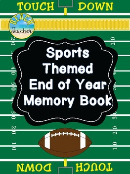 Sports Themed End of Year Memory Book