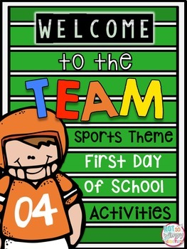 Sports Themed First Day of School Activities