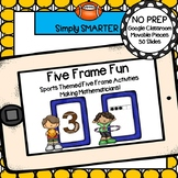 Sports Themed Five Frame Activities For GOOGLE CLASSROOM