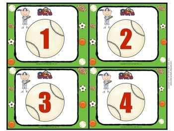 Sports Themed - General Use Numbers 1-32 Pack