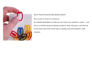 Sports Themed Good Grades Bulletin Board