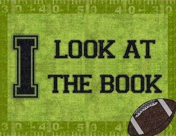 """Sports Themed IPick """"Just Right Books"""" Poster"""