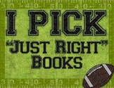 "Sports Themed IPick ""Just Right Books"" Poster"