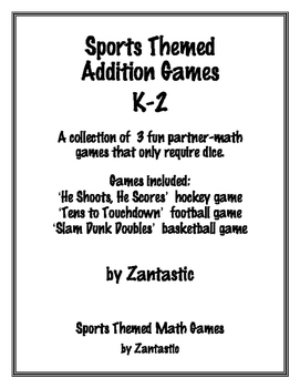 Sports Themed Math Addition Games