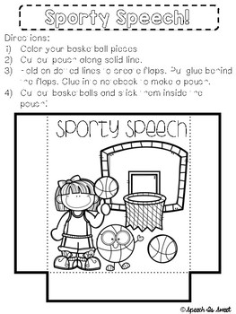 Sports Themed Interactive Articulation Notebook