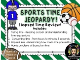 Sports Themed Jeopardy Game- reviewing Elapsed Time!