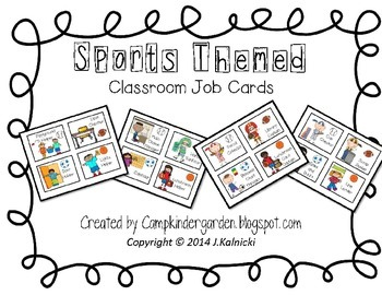 Sports Themed Job Cards