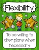 Sports Themed Lifeskills Posters G/Y {Other colors available by request}
