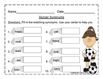 Sports Themed Literacy Centers