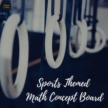 Sports Competition Theme Math Concept Board