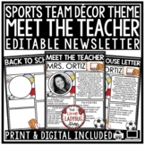 Sports Welcome Back to School Letter, Virtual Meet The Tea