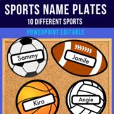 Sports Themed EDITABLE Name Plates / Bulletin Board Decor - Football Season!