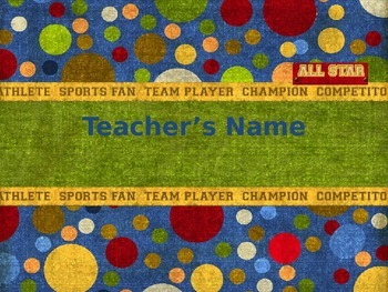 Sports Themed Name Tags