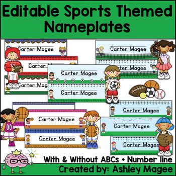 Sports Themed Nameplate Deskplate Nametags