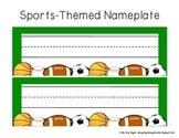 Freebie: Sports-Themed Nameplate