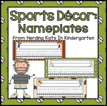 Sports Themed Nameplates