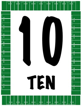 Sports Themed Number Line