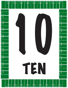 Sports Themed Number Line 1-30