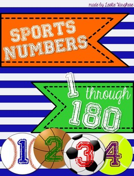 Sports Themed Numbers 1-180