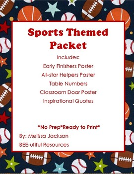 Sports Themed Packet
