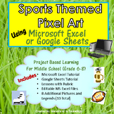 Sports Themed Pixel Art in MS Excel or Google Sheets  | Di