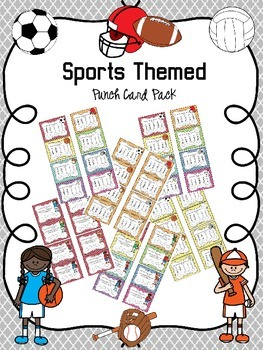 Sports Themed Punch Card Pack