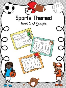 Sports Themed Punch Card Sampler