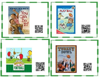 Sports Themed QR Code Listening Center