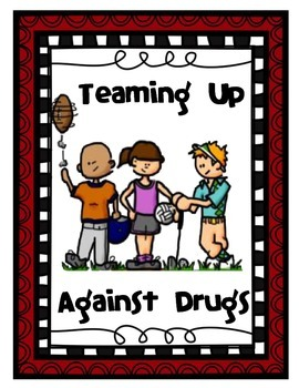 "Sports Themed Red Ribbon Week Unit - ""Teaming Up Against Drugs"""