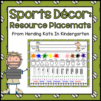 Sports Themed Resource Placemats