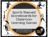 Sports Themed Scoreboards for Classroom Learning Games