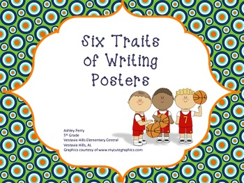 Sports Themed Six Traits of Writing Posters
