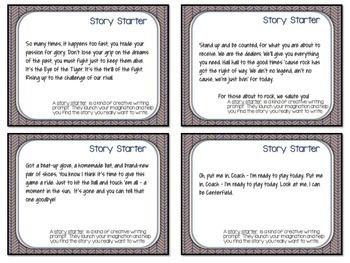 WINTER ACTIVITIES JOURNAL PROMPTS AND SPORTS THEMED STORY STARTERS
