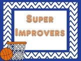 Sports Themed Super Improvers Wall