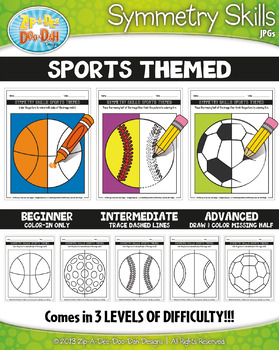 Sports Symmetry Skill Activity Pack {Zip-A-Dee-Doo-Dah Designs}