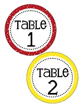 Sports Themed Table Numbers (only)