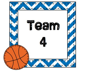 Sports Themed Table Signs For Classroom Decorating