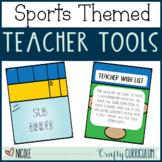 Sports Themed Teacher Binders