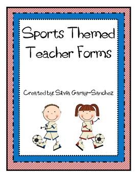 Sports Themed Teacher Forms