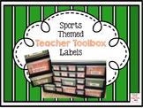 Sports Themed EDITABLE Teacher Toolbox Labels FREEBIE