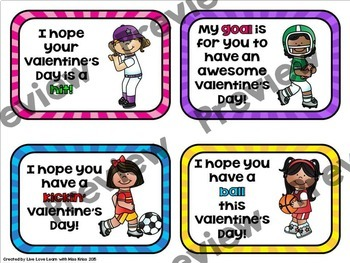 Sports Themed Valentines - Gift Tags