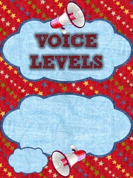 Sports Themed Voice Level Posters