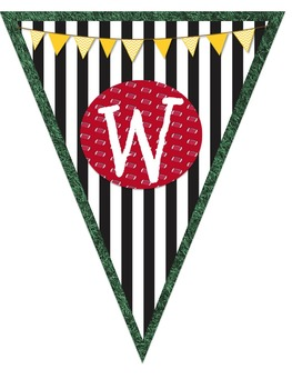 Sports Themed Welcome Pennant Banner
