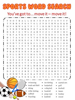 Sports Themed Word Search