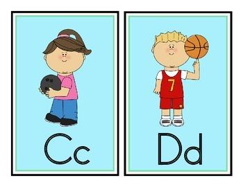 Sports Theme Word Wall Headers