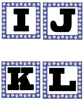 Sports Themed Word Wall Letters