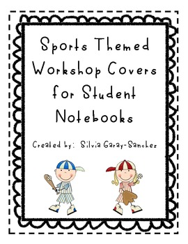 Sports Themed Workshop Notebook Covers